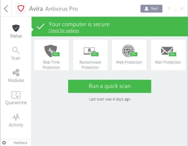 Avira Antivirus Pro latest version