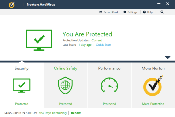Norton AntiVirus windows