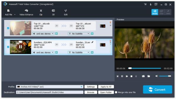 Aiseesoft Total Video Converter latest version