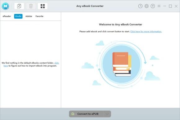 Any eBook Converter windows