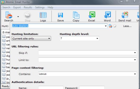 Atomic Email Hunter latest version