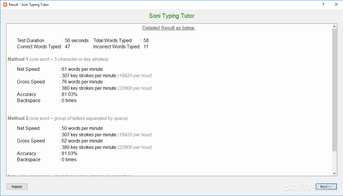 Soni Typing Tutor windows