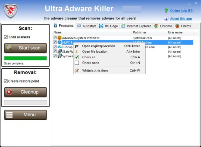 Ultra Adware Killer latest version