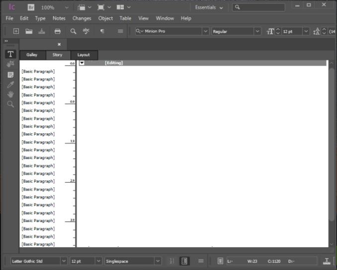 Adobe Incopy windows