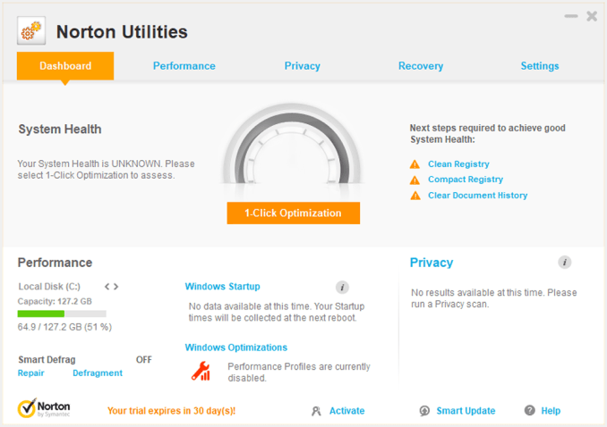 Norton Utilities Premium windows