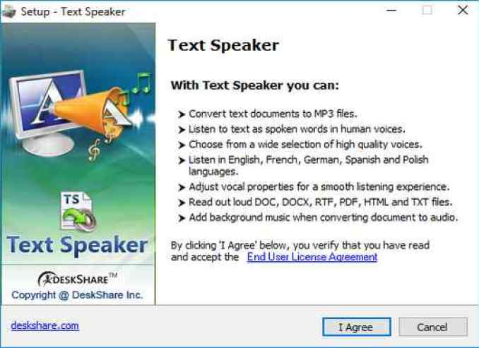 Text Speaker latest version