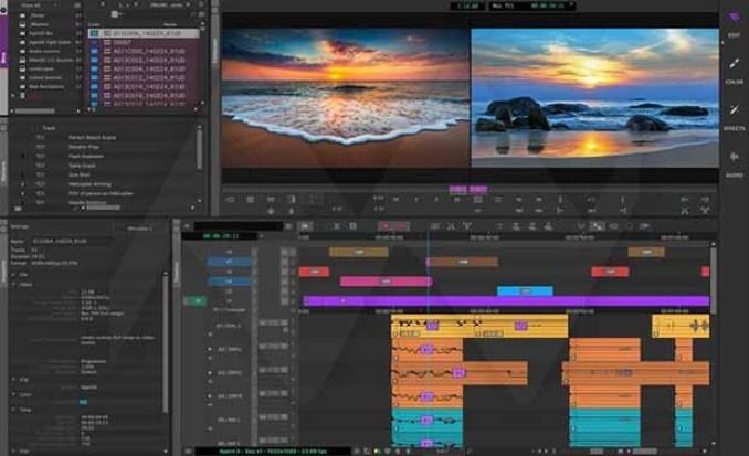 Avid Media Composer windows