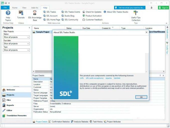 SDL Trados Studio Professional windows