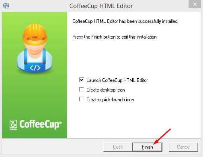 CoffeeCup HTML Editor windows