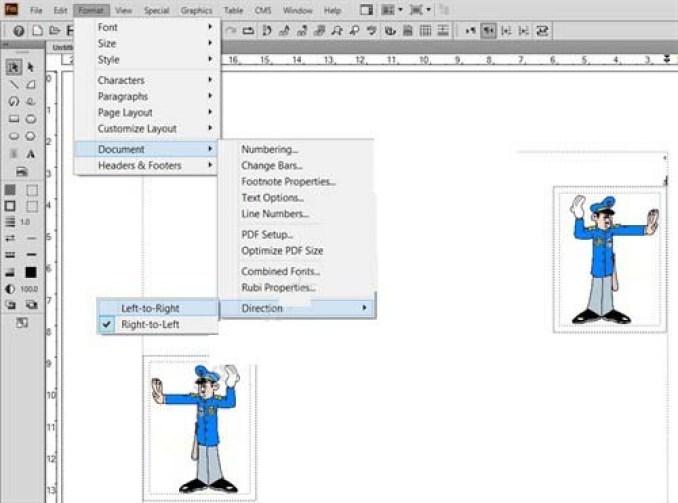 Adobe FrameMaker windows