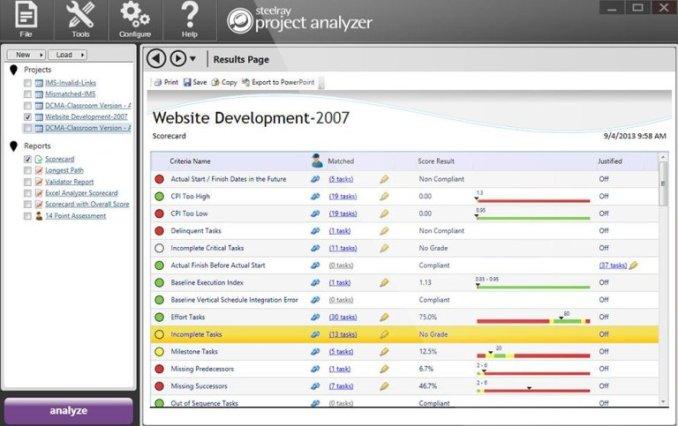 Steelray Project Analyzer windows