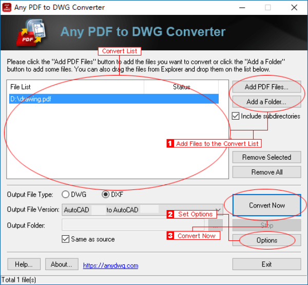 AnyPDF to DWG Converter latest version