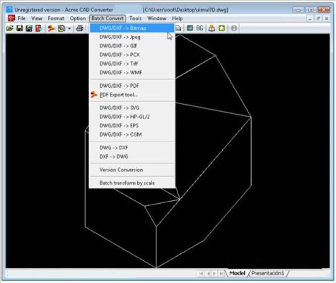 Acme CAD Converter windows