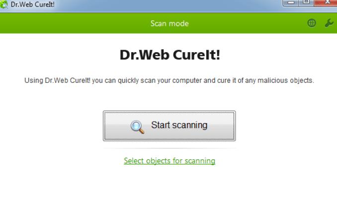 Dr.Web CureIt windows