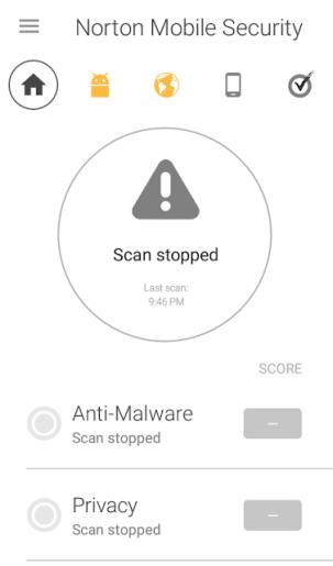 Norton Mobile Security windows