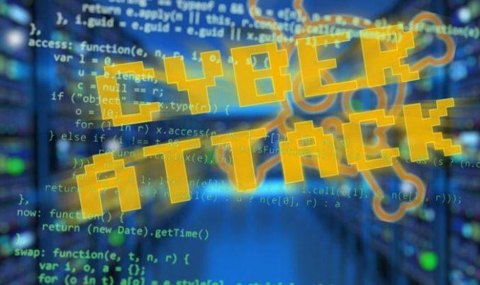 Supply Chain: Blauer Hintergrund mit binären Zeichen, Schriftzug Cyber Attack in gelb davor. Bild: Pixabay