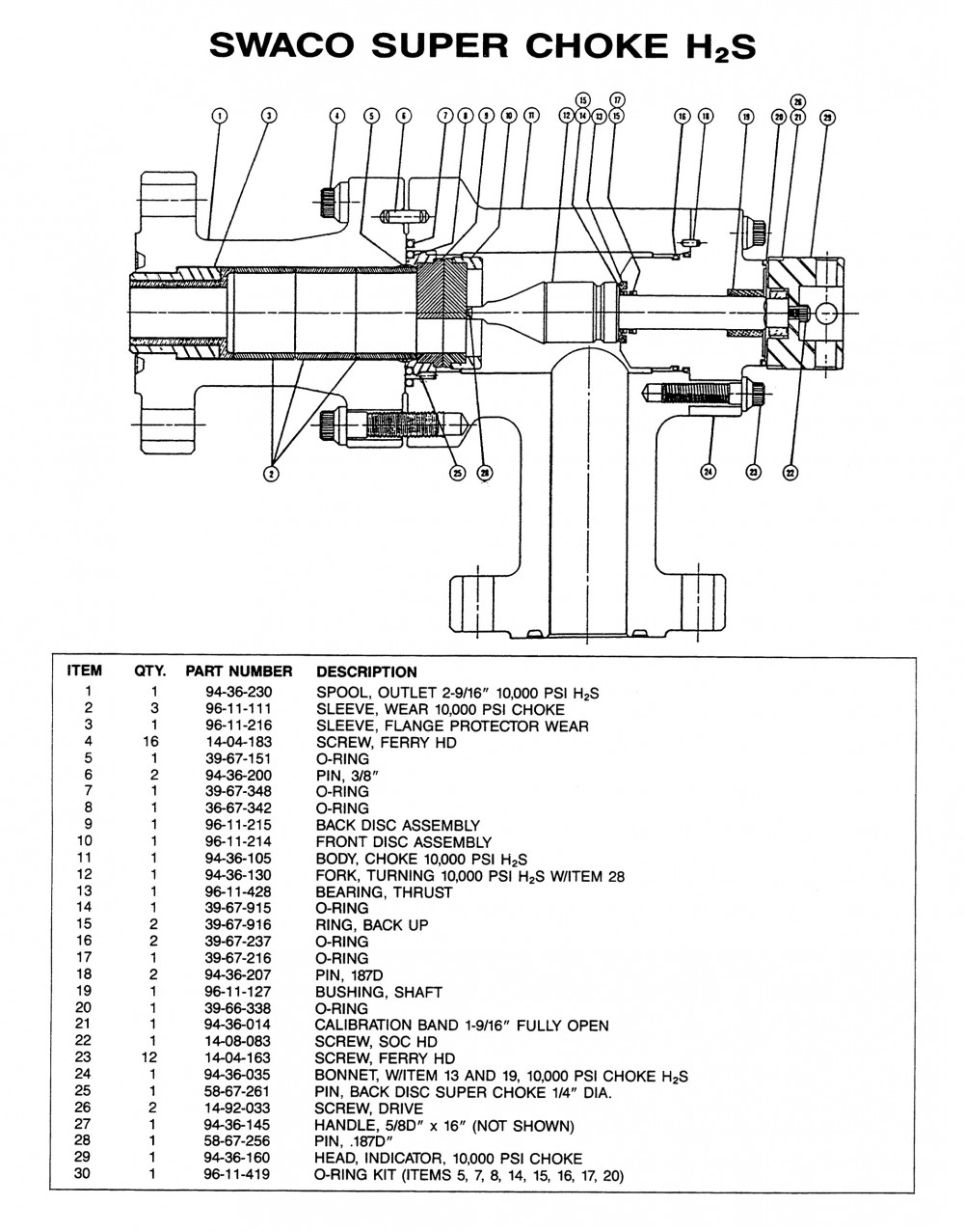 Replacement Parts Data Sheets › Pressure Control Systems