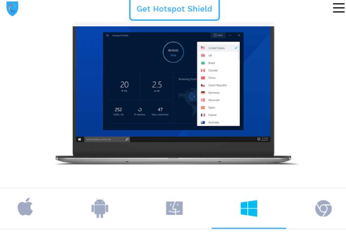 Hotspot Shield Free برنامج vpn للكومبيوتر
