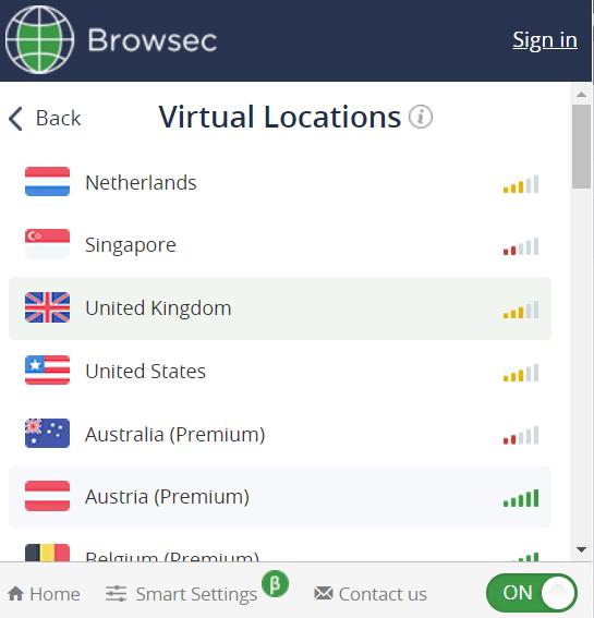 برامج VPN للكومبيوتر للمتصفحات