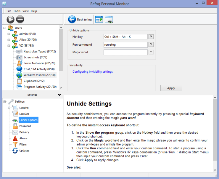 refrog keylogger control panel