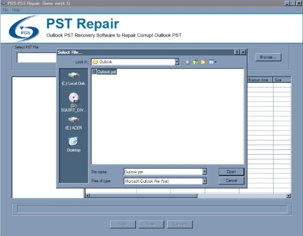 pds pst repair