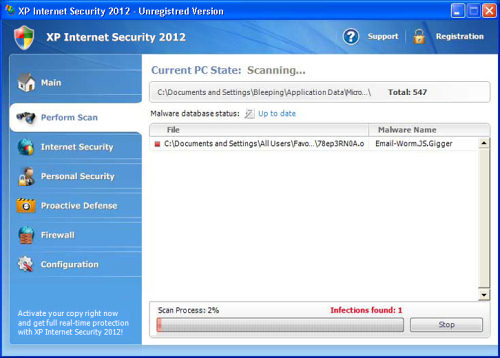 How to Remove XP Internet Security 2012