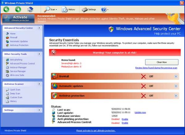 Windows Private Shield