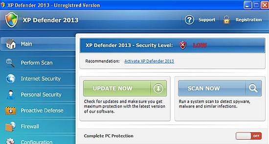 XP Defender 2013