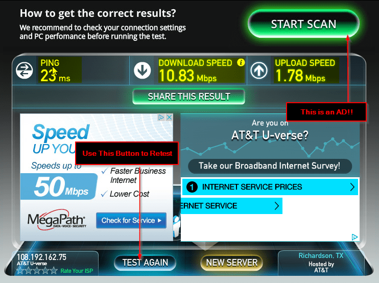 checking download speed on computer