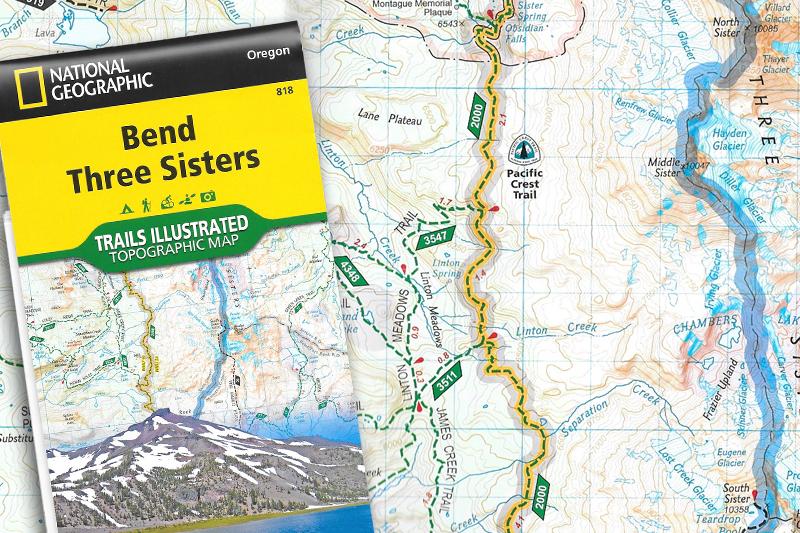 National Geographic Oregon Maps - PCT: Oregon