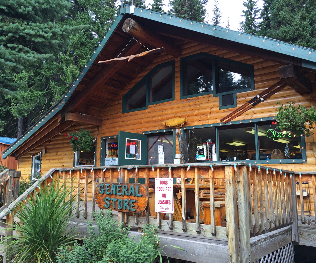 The General Store at Shelter Cove on Odell Lake is a great resupply stop with food, drinks and supplies.