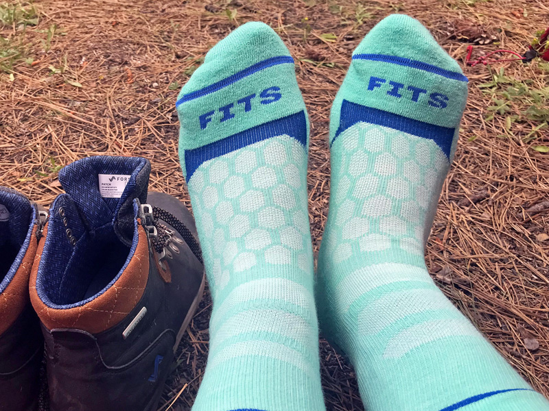 fits hiking crew socks