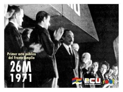 Primer Acto del Frente Amplio – 26 de Marzo de 1971