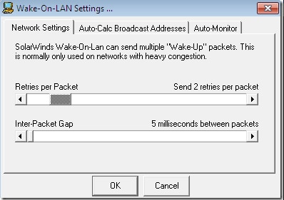 wake-on-lan software by Solarwinds