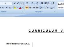 curriculum word