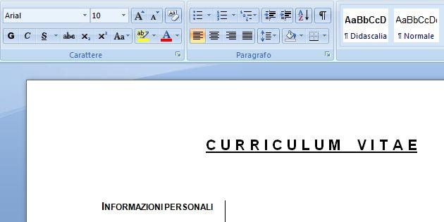 curriculum word