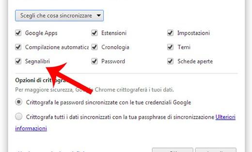 sincronizzazione Google
