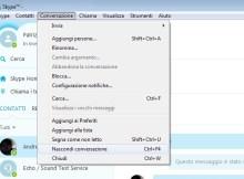 in questa immagine è presente la schermata di skype che permette di cancellare i messaggi.