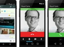 questa immagine mostra la schermata di una chiamata con whatsapp
