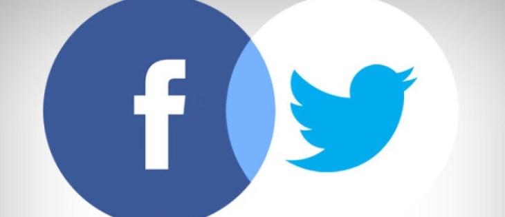 In questa immagine sono presenti i loghi di facebook e twitter.