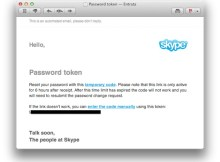 in questa immagine è presente la schermata di skype per recuperare la password