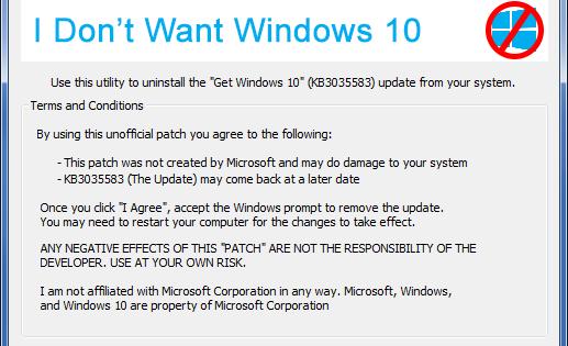 eliminare aggiornamento Windows 10