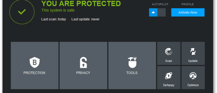 questa immagine mostra la schermata di Bitdefender Internet Security