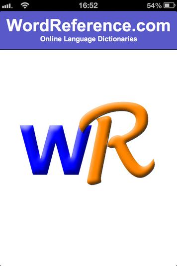 una W e una R simbolo dell'app wordreference