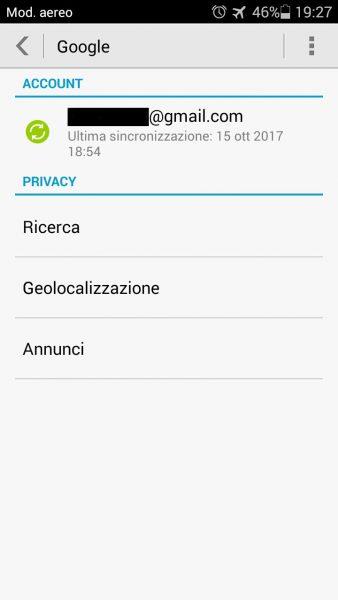 Recuperare la rubrica su Android