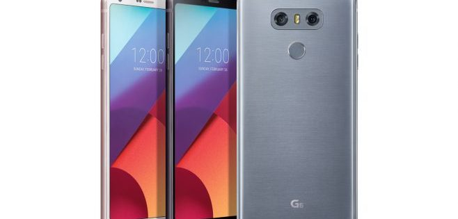 in questa immagine si vedono tre cellulari lg g6
