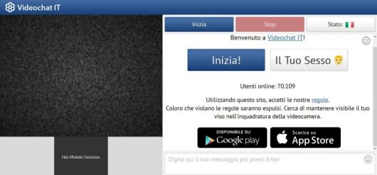 Videochat IT nei siti simili a Chatroulette