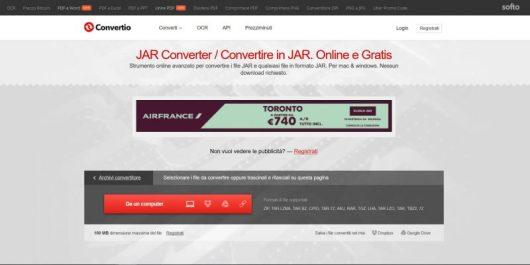 Convertio, il sito per convertire file da JAR a PHP