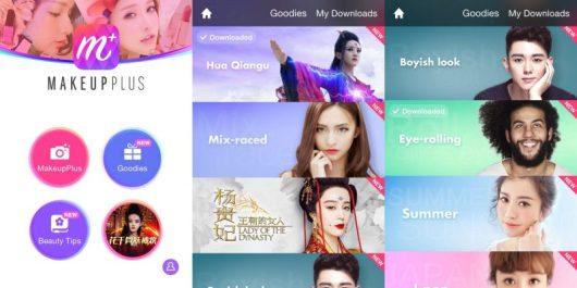 Schermate dell'app per truccarsi MakeupPlus