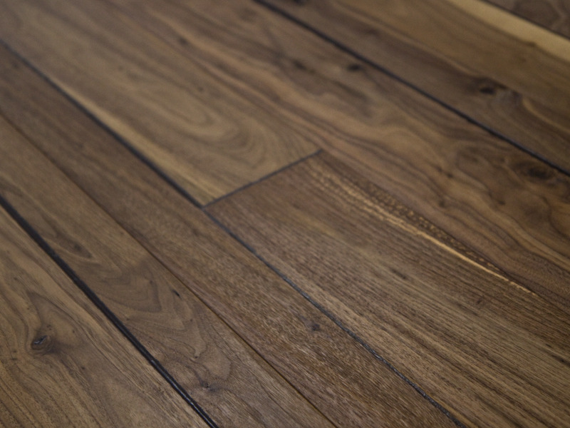 58 x 712 Prefinished Engineered Walnut Historic Hardwood